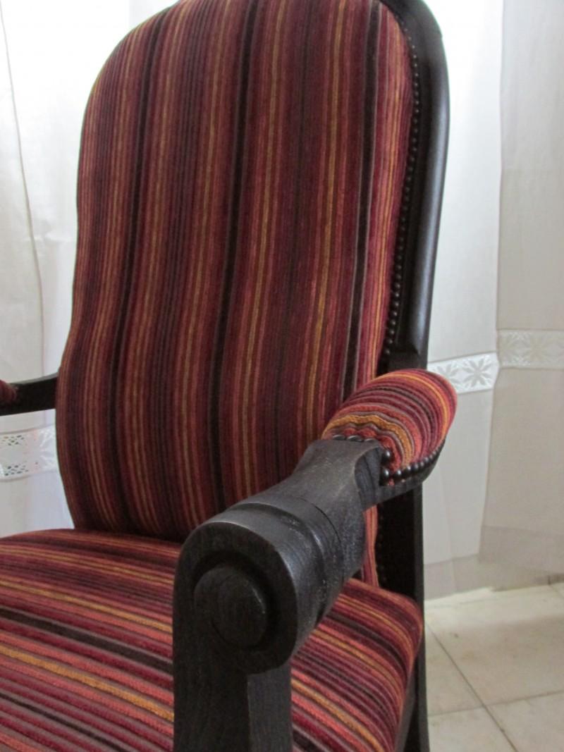 fauteuil voltaire en velours atelier l 39 art de rien artisan tapissier d 39 ameublement. Black Bedroom Furniture Sets. Home Design Ideas