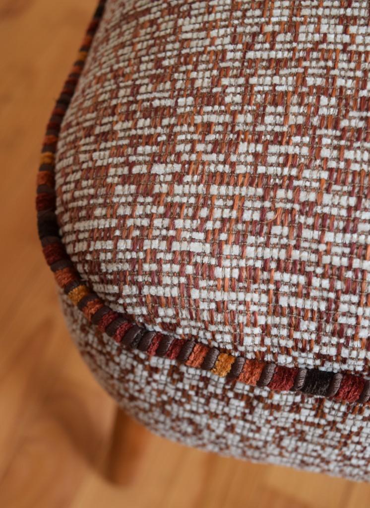 détail tissu fauteuil cocktail